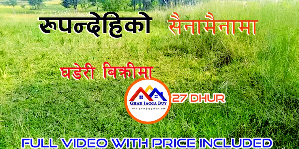 Land for sale in Sainamaina, Rupandehi Nepal