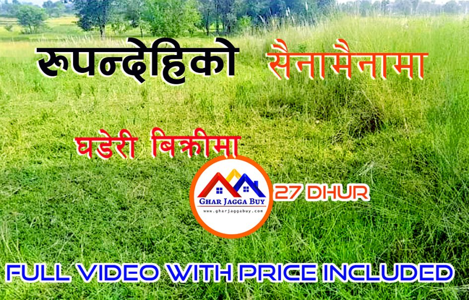 Land for sale in Sainamaina, Rupandehi Nepal