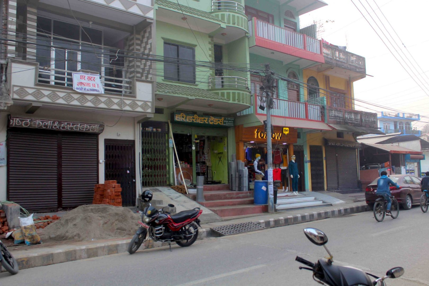Commercial house with shutter, hall, and room is for rent in Sukkhanagar, Butwal, Rupandehi